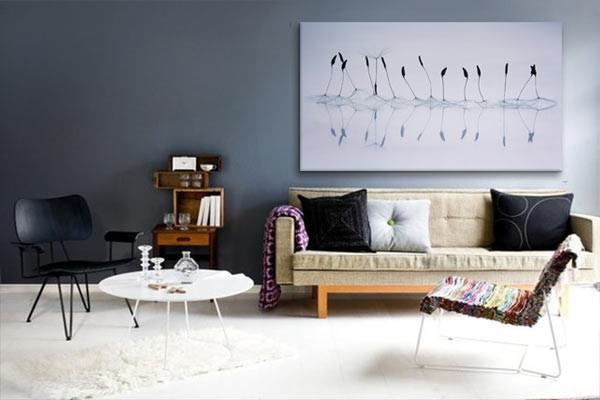 deco scandinave avec un tableau d coration pistils. Black Bedroom Furniture Sets. Home Design Ideas