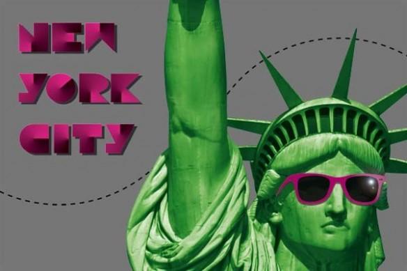 Tableau grand format New york City gris