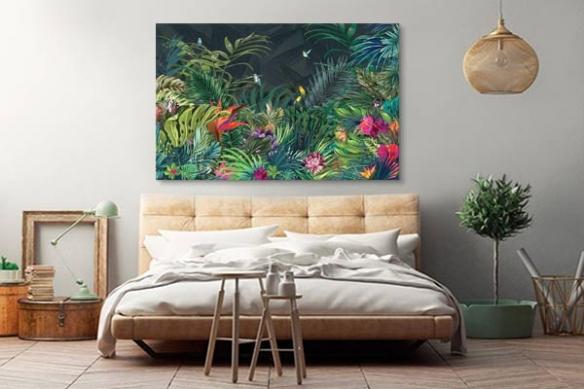 déco chambre tableau déco Jungle moderne