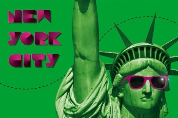statue liberté New york City vert