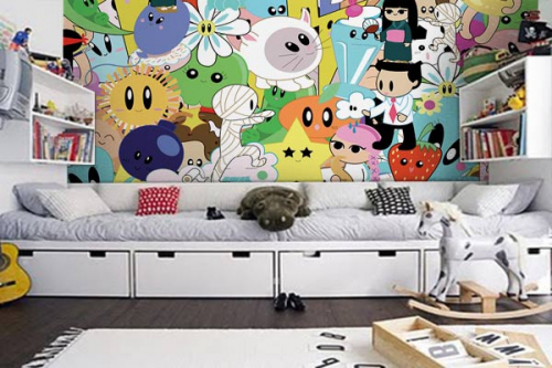 stunning poster mural chambre ideas. Black Bedroom Furniture Sets. Home Design Ideas