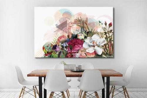 Tableau décoration fleur Bouquet graphique