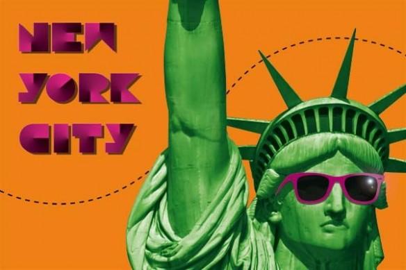 Tableau statue liberté New york City