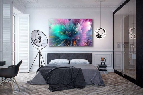 tableau abstrait color pour une d coration murale moderne. Black Bedroom Furniture Sets. Home Design Ideas