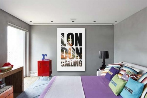 Tableau moderne London Calling by Yann Wallaert