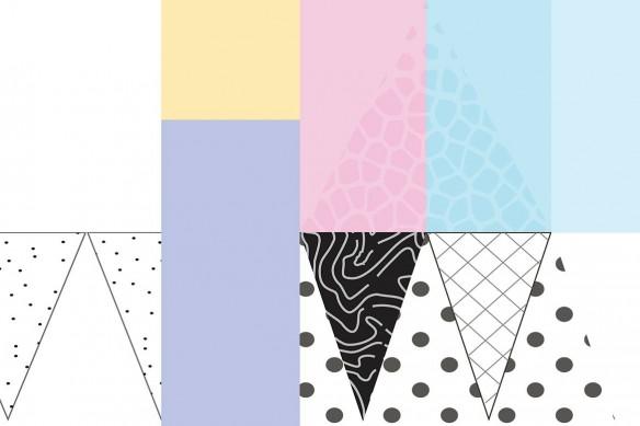 Tableau abstrait graphique Ice cream