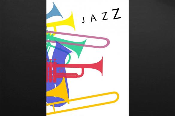 Tableau moderne Affiche de Jazz