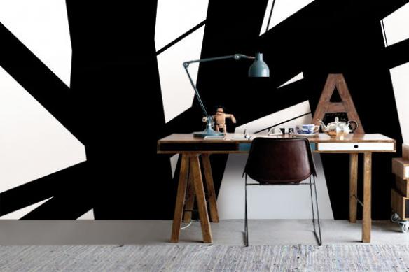 tapisserie moderne abstraite Instable