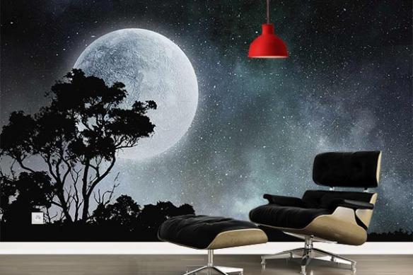 Papier peint intissé Pleine Lune Serengeti