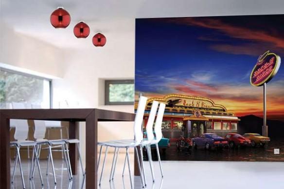 Papier peint intissé American Diner
