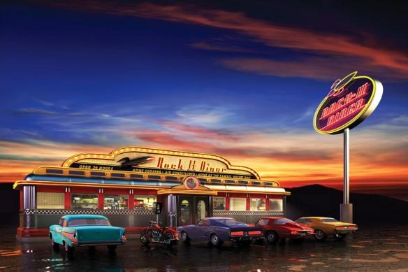 Poster moderne salle a manger American Diner