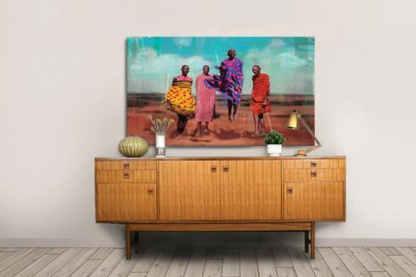 Tableau africain Maasai