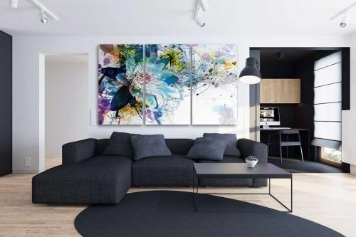 décoration murale avec un tableau triptyque moderne - izoa