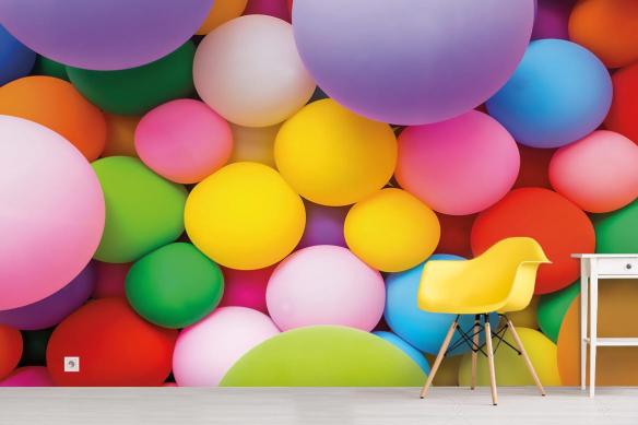 Papier peint 3D Ballons de Baudruches