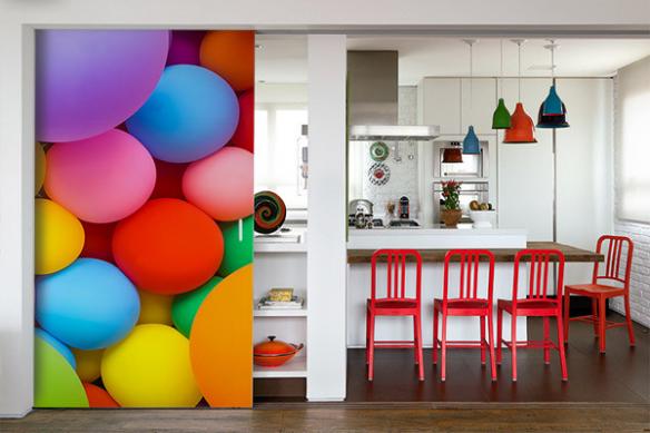 Papier peint pour cuisine tendance Ballons de Baudruches