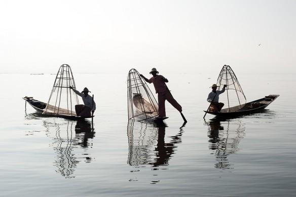 tableau toile Pêcheurs Thailandais