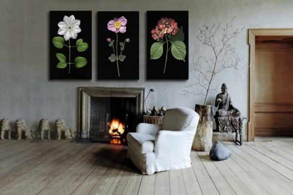 Tableaux triptyque Fleurs