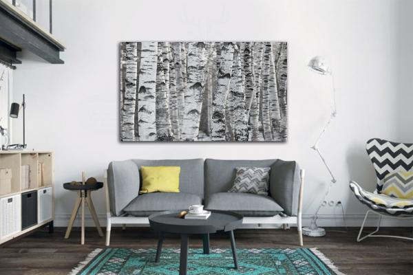 tableau scandinave au bouleau d co naturelle noir et blanc. Black Bedroom Furniture Sets. Home Design Ideas