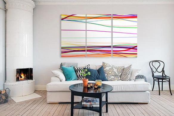 Triptyque tableaux Vertigo