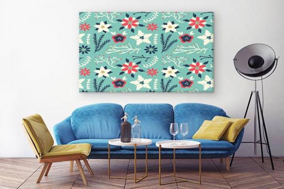 Tableau Floral Scandinave