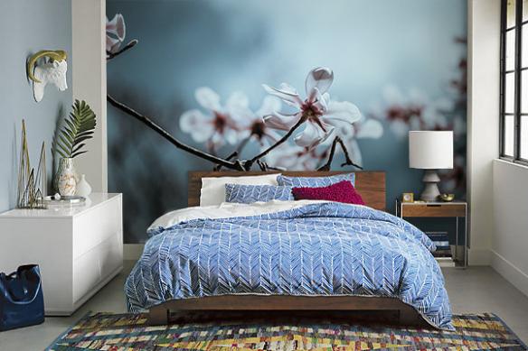 Papier peint bleu Norouz