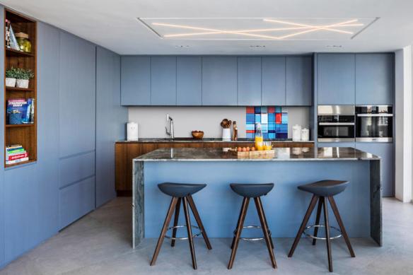 Cuisine design bleu Callisto
