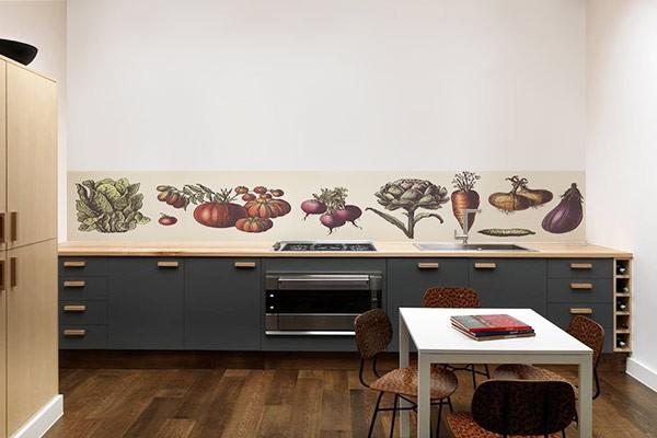 Déco murale cuisine Légumes du marché