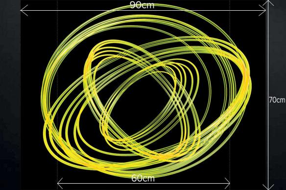 Fond de hotte Inox Photon jaune