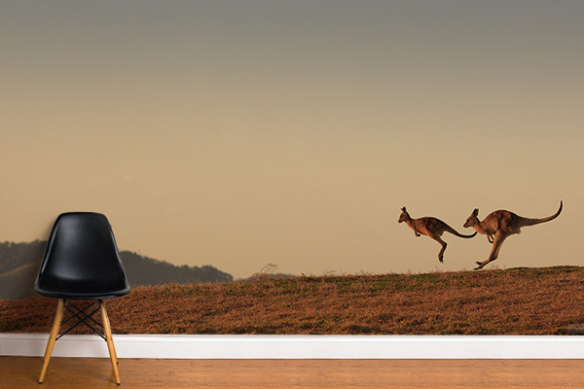 tapisserie moderne Kangourous