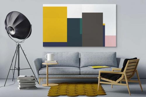 Tableau toile abstraite graphique Mood