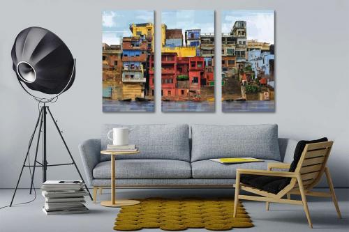 Tableaux triptyque design favelas