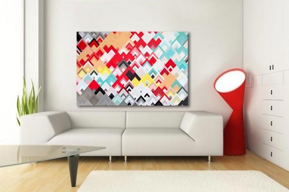 Grand tableau moderne abstrait WillWaw