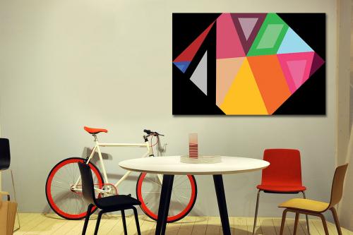 Tableau toile design Hexagone