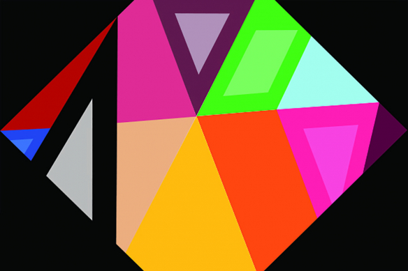 Toile imprimée murale hexagone