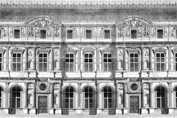 Tapisserie chambre Façade Haussmannienne