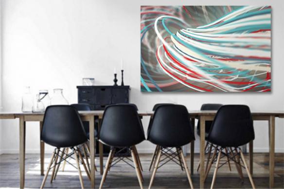 Cadre tableau abstrait Gammora