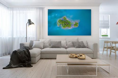 Cadre tableau Iles paradisiaques