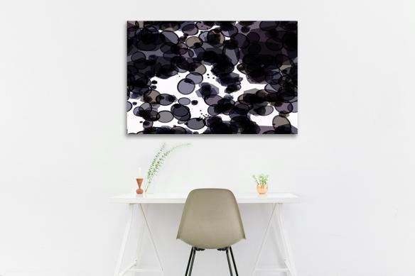 Toile design noir blanc Monocellulaire