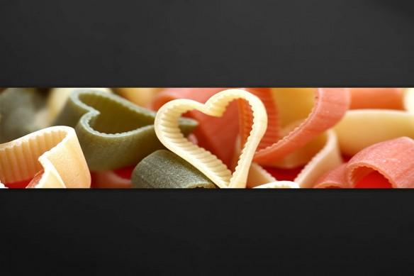 Crédence cuisine adhésive Pâtes en Cœur