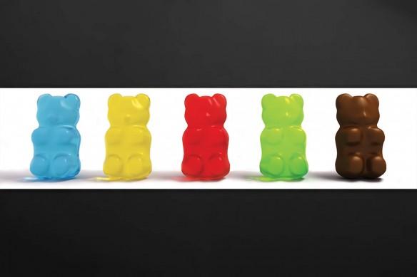 Crédence cuisine originale bonbons ours