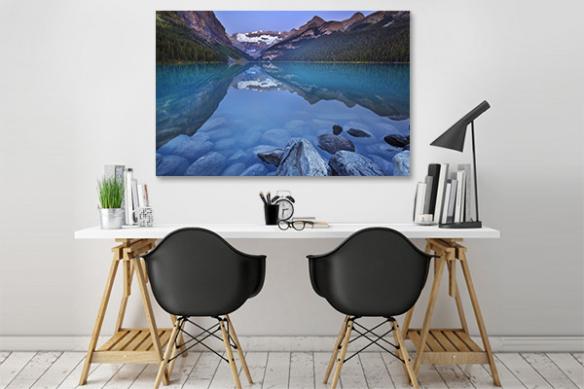 Grand tableau design Lac Autin