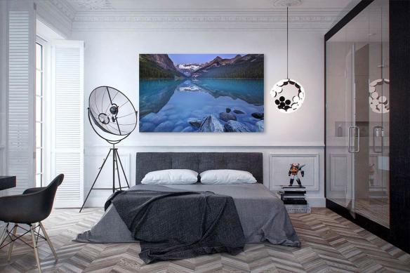 décoration murale design chambre Lac Autin