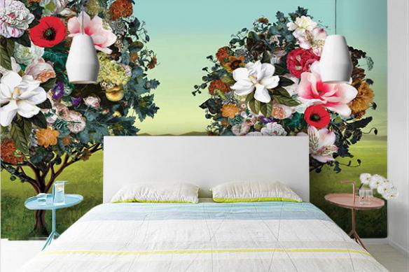 Poster géant Arbres Fleurs