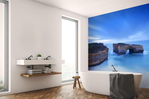 papier peint salle de bain algarve. Black Bedroom Furniture Sets. Home Design Ideas