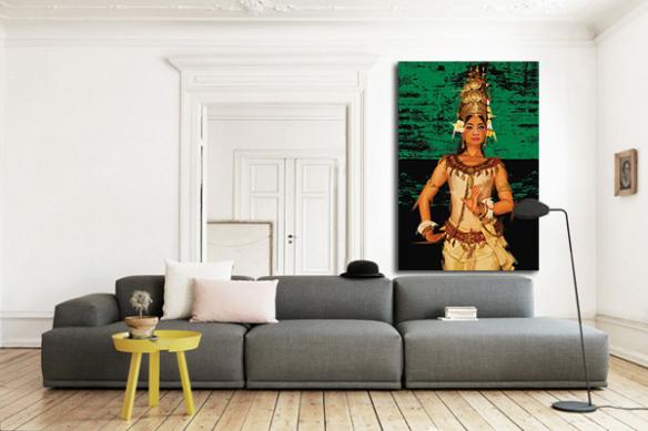Impression sur toile Apsara