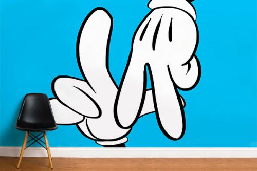 Papier peint trompe l'oeil 3d L.A Mickey