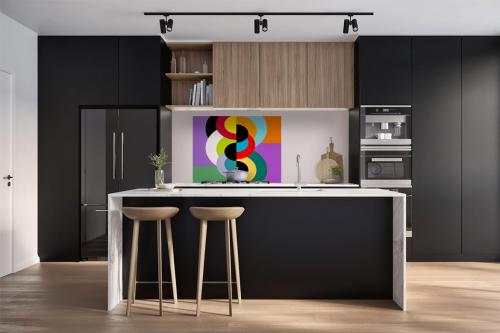 Fond de hotte design adhésif cuisine Cercle Infernal