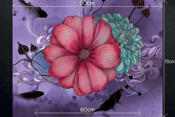 Fond de hotte pour cuisine verre Anémone violet