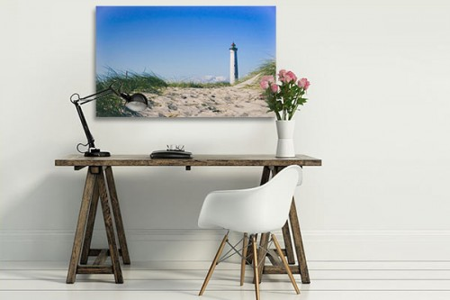 Grand tableau déco impression Phare sur plage