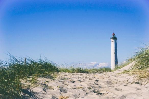 Cadre déco Phare sur plage